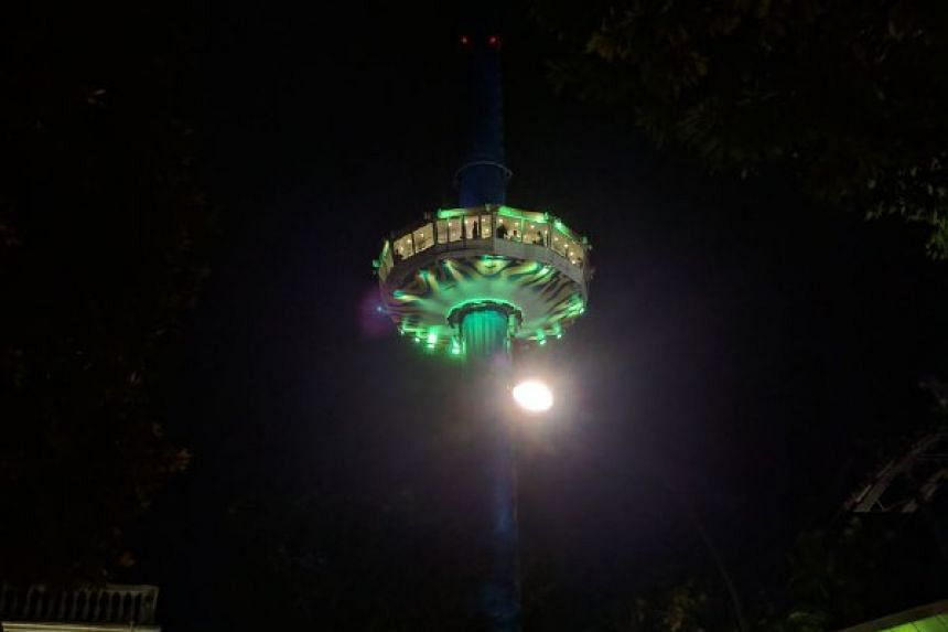 Passengers on the Tiger Sky Tower attraction in Sentosa were trapped on Saturday (Aug 12) evening.