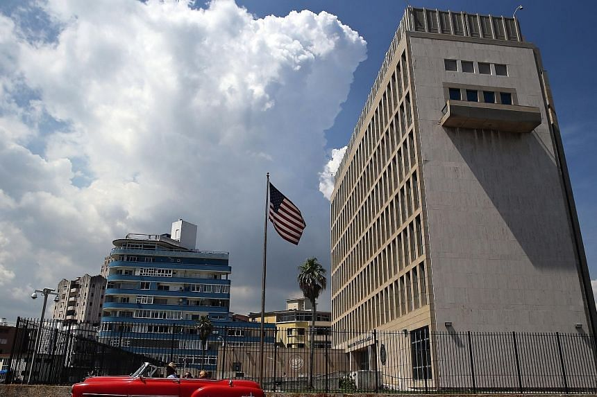 The United States Embassy in Havana, Cuba. A State Department spokesman said a number of US diplomats have returned home for treatment after falling ill, without detailing the nature or number of the injuries.