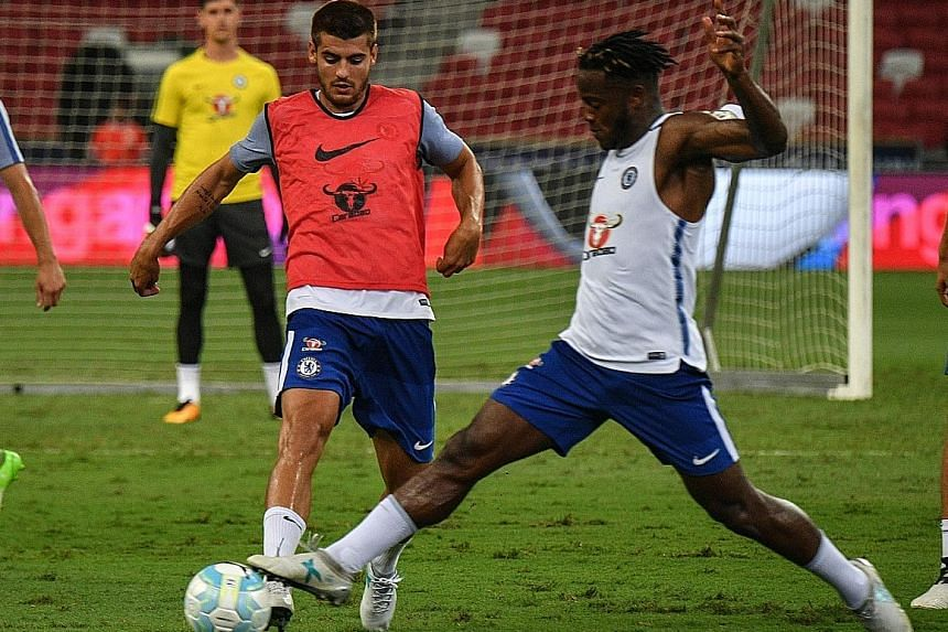 New signing Alvaro Morata (left) and Michy Batshuayi represent Chelsea's post-Diego Costa strike force. Morata will provide a mobile target across the frontline while Batshuayi will seek to build on a good pre-season.