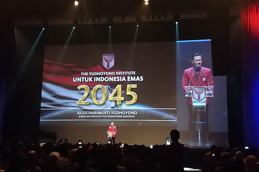 Mr Agus Harimurti Yudhoyono at the launch of The Yudhoyono Institute on Thursday. As its executive director, he says it hopes to nurture young leaders who can steer Indonesia into a golden era by 2045.