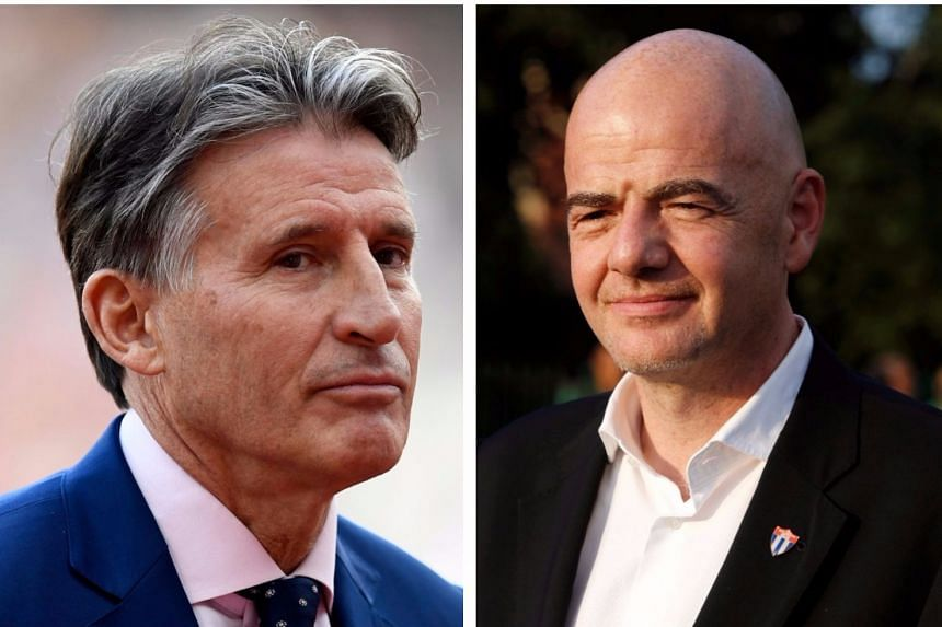 IAAF chief Seb Coe (left) and Fifa's Gianni Infantino were passed over for a second year running.