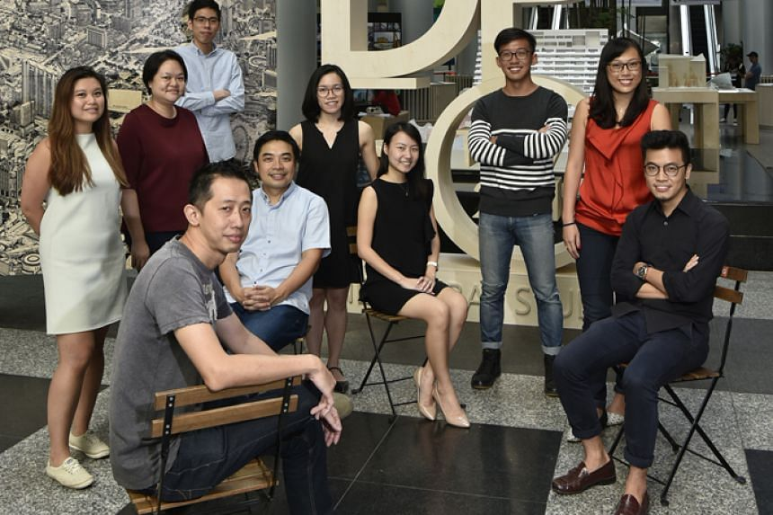 The exhibition team members include (standing, from far left) Jazelle Ang, Jess Low, Chua Yi Xi, Tan Yee Lin, Wong Tsz Ho, Low Si Ni, (sitting from far left) Seetoh Khan Pang, Ng San Son, Diane Yeo and Melcas Lim.