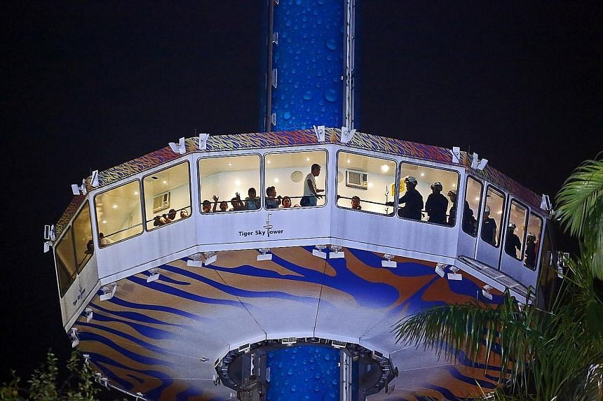 """Technicians were able to lower the gondola intermittently until it reached the ground. All 39 stranded on board were able to disembark and were """"doing fine"""", said the Singapore Civil Defence Force."""
