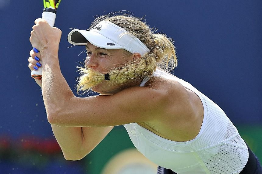 Caroline Wozniacki's record against No. 1s included five losses to Serena Williams and one to Dinara Safina. She finally ended her poor run by stunning new world No. 1 Karolina Pliskova on Friday, beating the Czech 7-5, 6-7 (3-7), 6-4.
