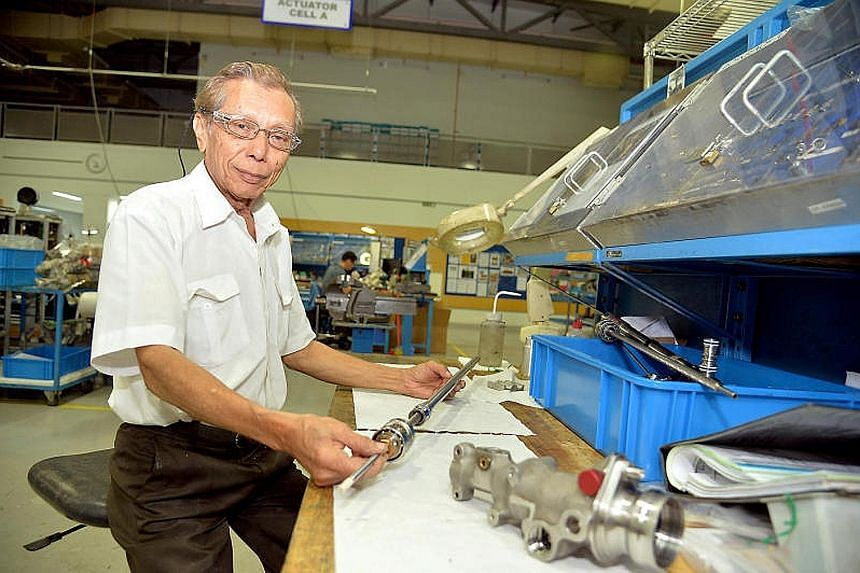 Technician Mohsin Khan, 73, has been working at Aerospace Component Engineering Services (Aces) for 10 years. The firm redesigned his job in November 2015 so he could continue to perform at work.