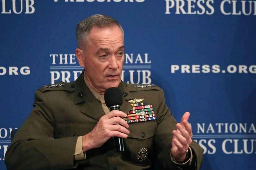 US General Joseph Dunford speaking at the National Press Club on June 19, 2017.