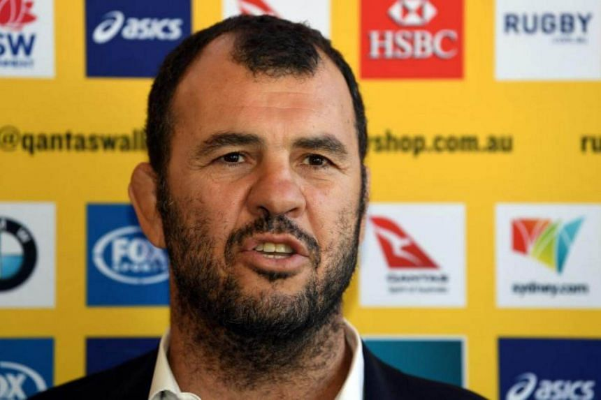 Australia's Wallabies rugby coach Michael Cheika speaks at a press conference regarding the squad announcement for the Bledisole Cup in Sydney on Aug 4, 2017.