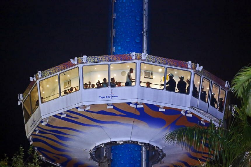 Thirty-nine people were stranded on Sentosa's Tiger Sky Tower due to a mechanical fault on Saturday (Aug 12).