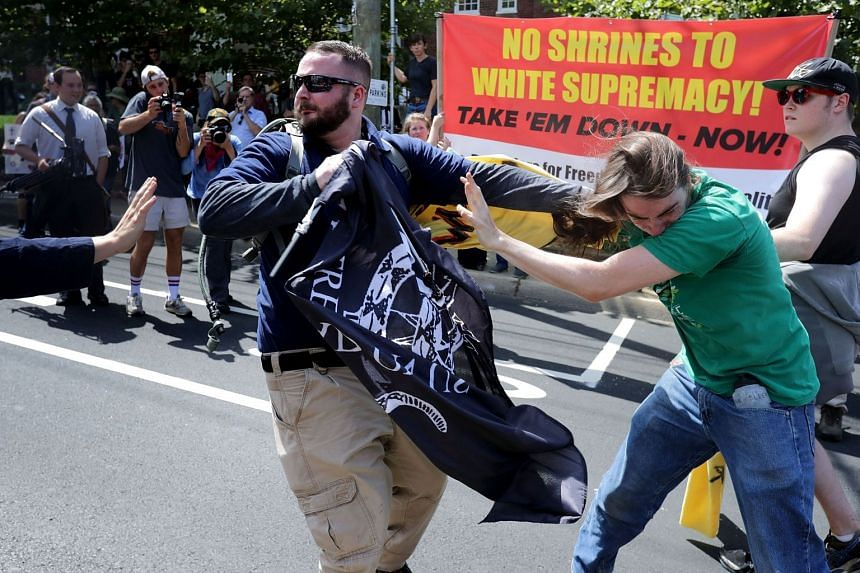 """White nationalists, neo-Nazis and members of the """"alt-right"""" clash with counter-protesters."""