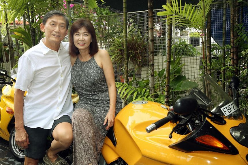 Ms Agatha Koh (right) and Mr Teng Nee Peng tied the knot after less than six months of dating, in 2015, at the age of 61.