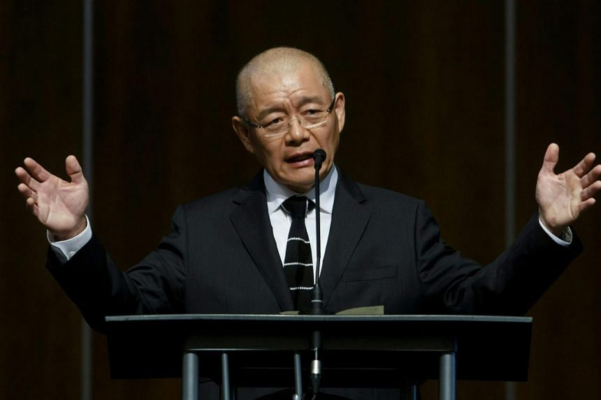 Canadian pastor Hyeon Soo Lim addresses his congregation at the Light Korean Presbyterian Church in Mississauga, on Aug 13, 2017