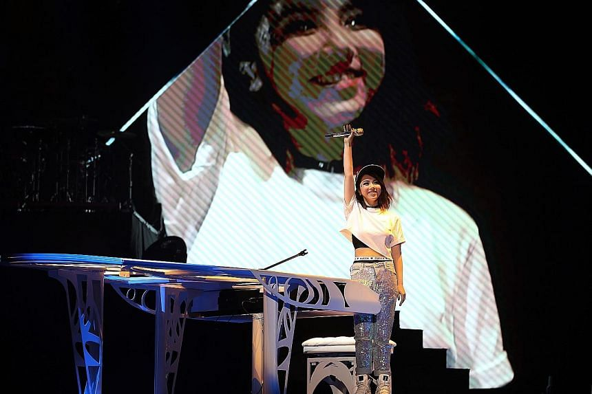 G.E.M. belted out the high notes and held them with ease at her concert at the Singapore Indoor Stadium.