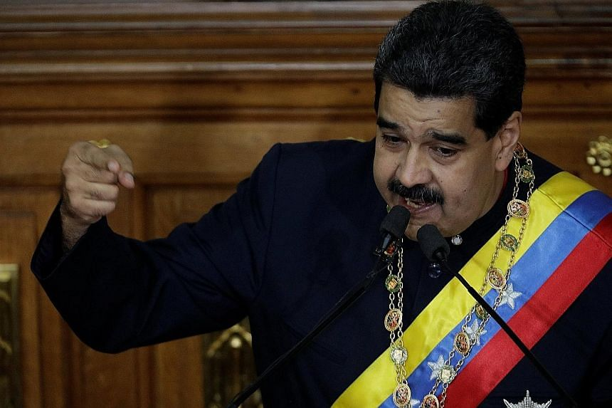 Venezuela's President Nicolas Maduro speaking during a session of the National Constituent Assembly at Palacio Federal Legislativo in Caracas last Thursday. He was born in 1962, an era when revolution roiled Latin and Central American countries.