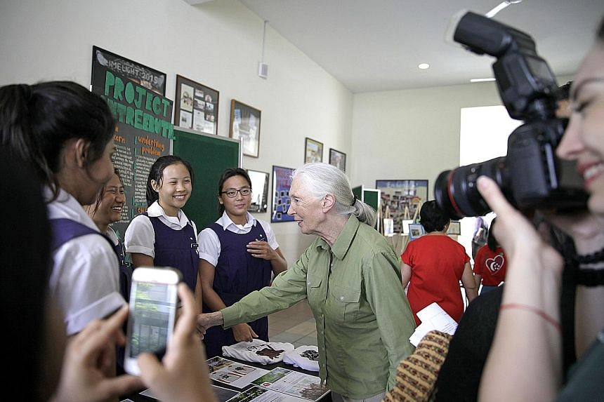 Roots & Shoots, started by renowned primatologist Jane Goodall (seen here meeting team members of a student project), began in Singapore with just one school. […]