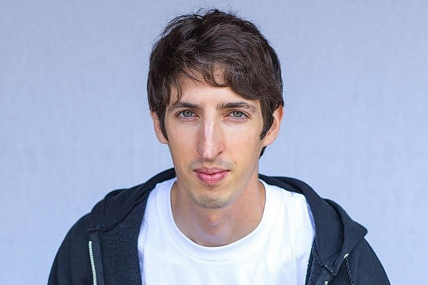 """Mr James Damore in a T-shirt bearing the word """"Goolag"""". The Soviet Gulag ran forced-labour camps during the 1930s."""