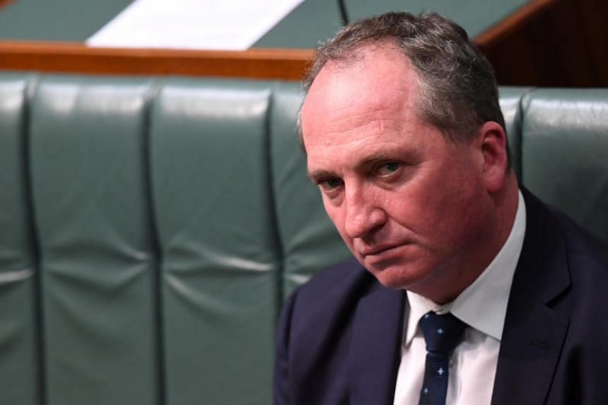 Australian Deputy Prime Minister Barnaby Joyce sits in the House of Representatives at Parliament House in Canberra, Australia, on 14 Aug, 2017