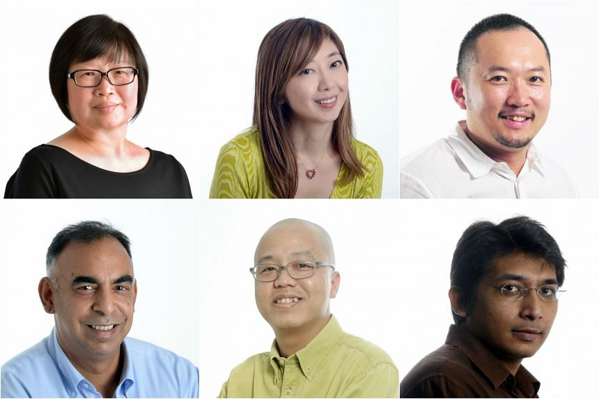 (Clockwise from top left) Tan Hsueh Yun, Sumiko Tan, Ignatius Low, Rohit Brijnath, Andy Chen and Abdul Hafiz will be hosting meet-and-greet sessions on Aug 19 and 20.