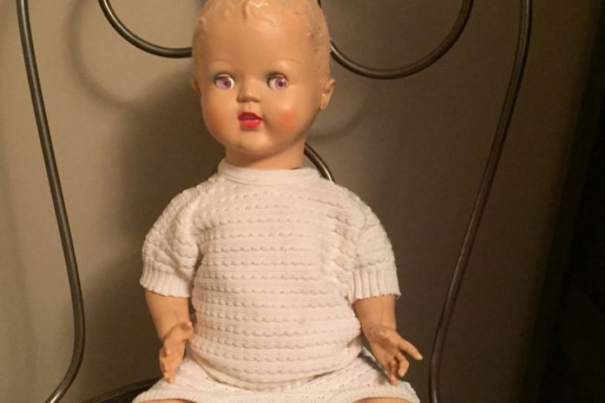There was this doll and it was always sitting on this chair (above).