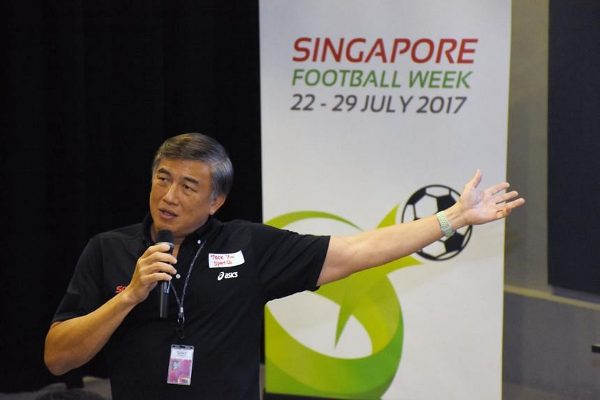 Sport Singapore (SportSG) chief Lim Teck Yin speaking at the launch of Singapore Football Week (SFW) on July 13, 2017.