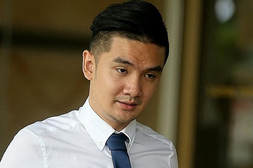 Michael Le (left) and Khong Tam Thanh are two of the three men who admitted to outraging a Malaysian woman's modesty by having sex with her while wrongfully restraining her on Sept 10 last year. It was not mentioned in court why the charges were redu