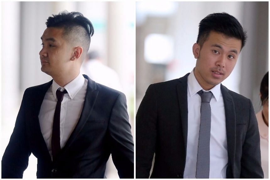 Britons Michael Le (left), Khong Tam Thanh (right) and Vu Thai Son were sentenced to between five-and-a-half and six-and-a-half years' jail with caning on Tuesday (Aug 15).