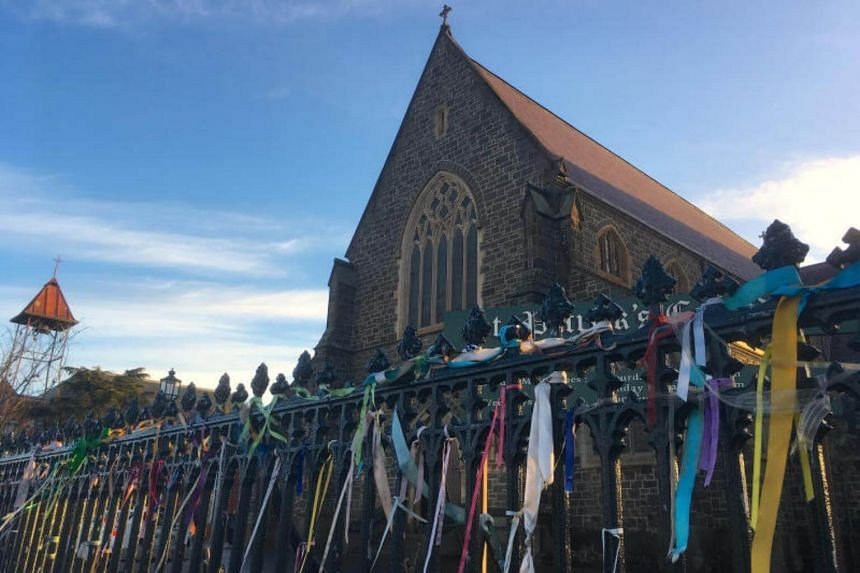 Colourful ribbons can be seen tied to the fence outside St Patrick's Cathedral, a spontaneous gesture to remember victims of Roman Catholic church abuse, in the town of Ballarat, located west of the southern city of Melbourne in Australia.