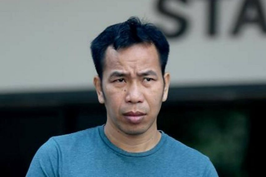 Thai national Chaisim Santi, 38, pleaded guilty in court to two counts of insulting the woman's modesty.