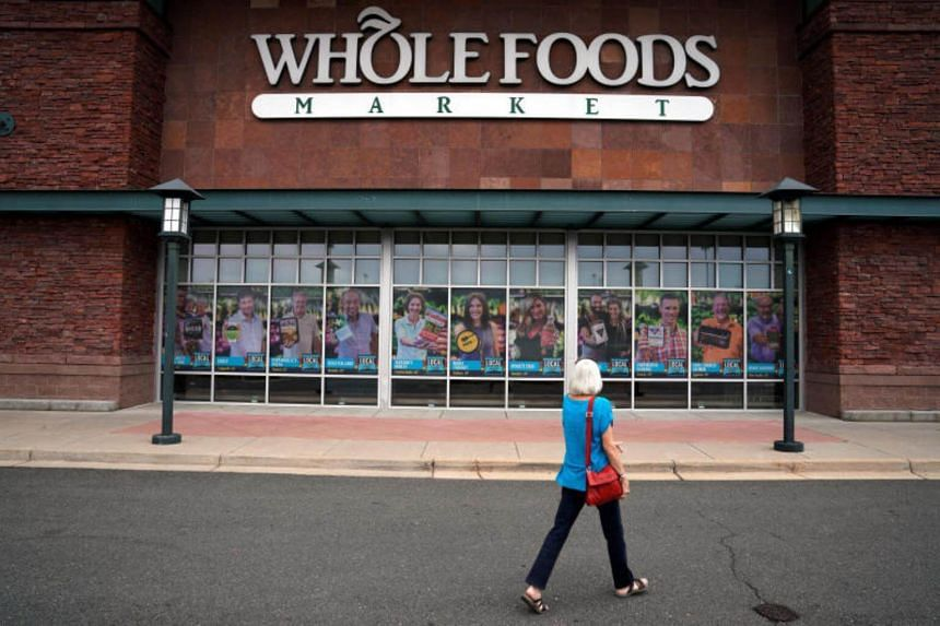 A customer enters the Whole Foods Market in Superior, Colorado, United States.