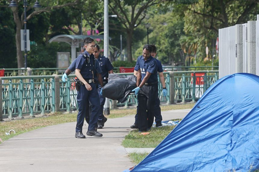 Police said they were alerted at 7.41am yesterday that a man had been seen floating face down in Geylang River near Block 74, Dakota Crescent. They are investigating the unnatural death.