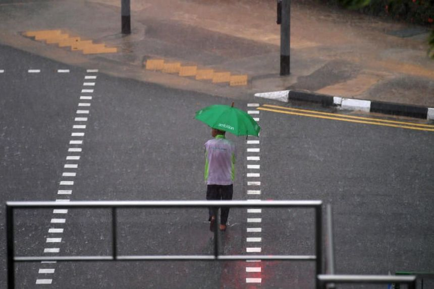 Thundery showers are expected over Singapore on Wednesday.