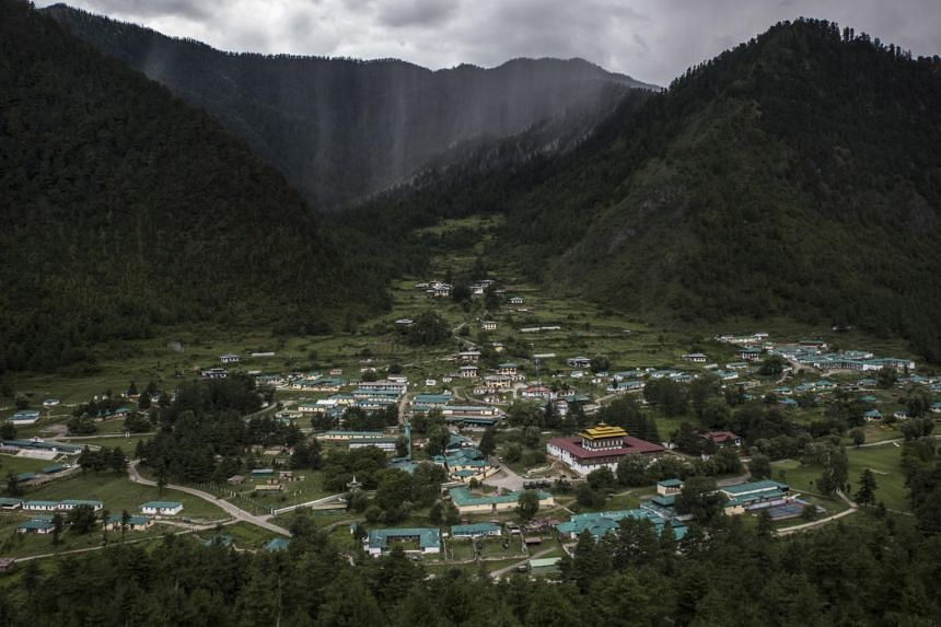 A regional headquarters for India's military in Haa, Bhutan, near a border area claimed by both India and China.