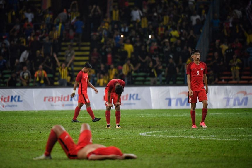The Singapore team players after the match.