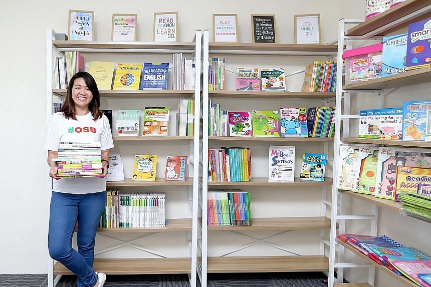Ms Ong Hui Juan, who runs an online marketplace for education resources, said primary school pupils typically each have seven assessment books at a time. About 20 per cent of parents also buy assessment materials that are a level higher than their ch