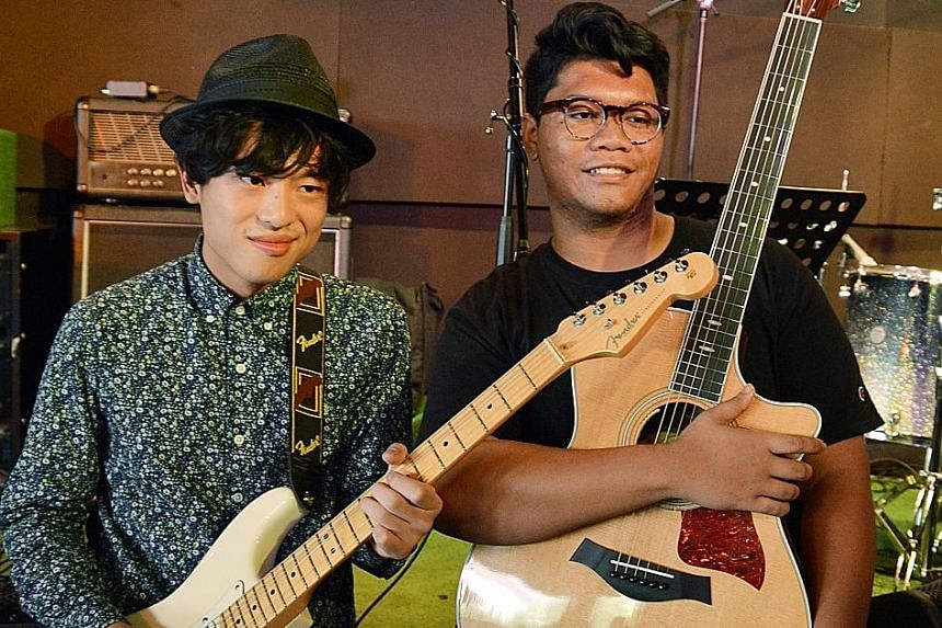 Artists involved in the Pop-Up Noise: The Great Singapore Replay project include Joie Tan; indie rock-pop band The Betts, comprising Nicson Niam, Charles Wee, Jonathan Pereira and Pierre Yip; Dru Chen (left) and Umar Sirhan (right).