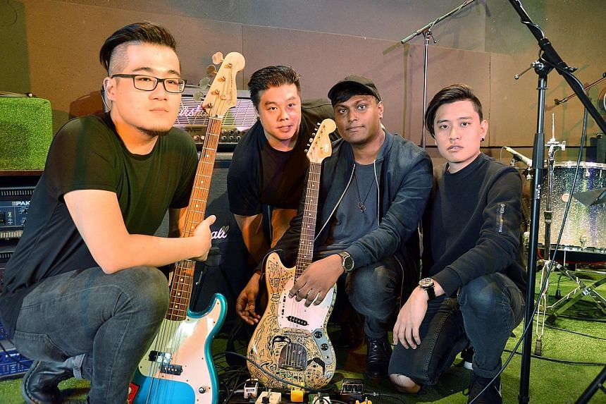 Artists involved in the Pop-Up Noise: The Great Singapore Replay project include Joie Tan; indie rock-pop band The Betts, comprising (above from left) Nicson Niam, Charles Wee, Jonathan Pereira and Pierre Yip; Dru Chen and Umar Sirhan.