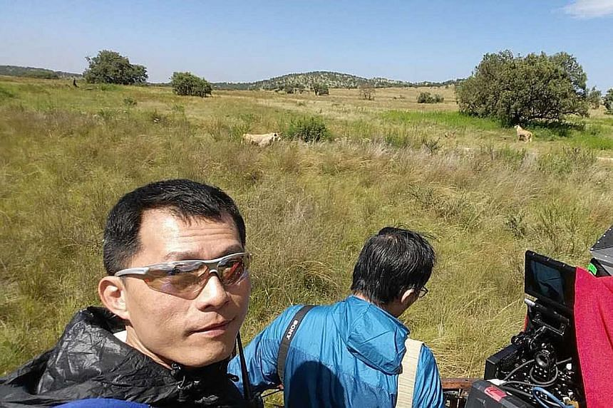 Ix Shen shooting on location in South Africa for Wolf Warrior II.
