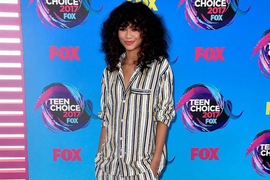 Actress Zendaya was one of the stars who attended the Teen Choice Awards on Sunday.