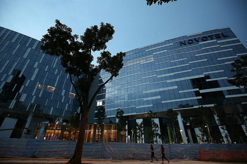 Oxley's $900 million project received its temporary occupation permit on Aug 3. Visitors can choose from the 254-room Novotel hotel or the 518-room Mercure, which are both near the Orchard Road shopping district.
