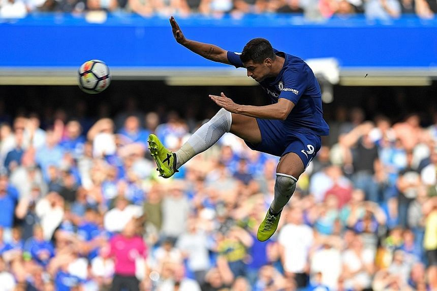 Chelsea's record signing Alvaro Morata in action against Burnley. Despite an outlay of $218 million in the summer, Blues manager Antonio Conte has been griping about his team's lack of depth.
