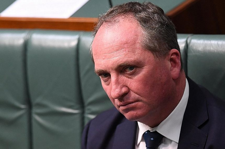 High Court yet to decide Mr Barnaby Joyce's eligibility in Parliament.