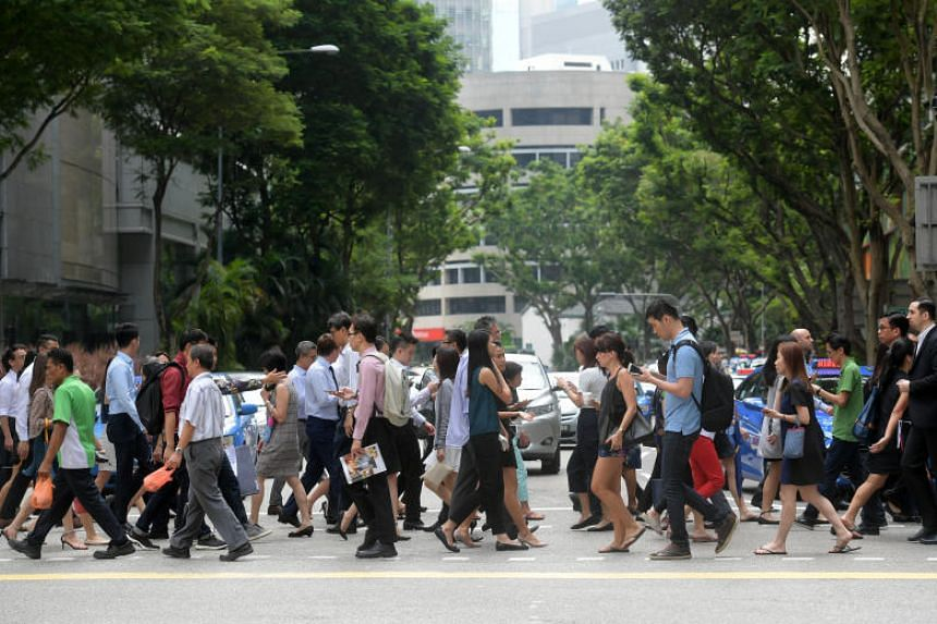 The poll showed 73 per cent of Singaporeans are satisfied with the firms they work for, compared with the global average of 82 per cent.