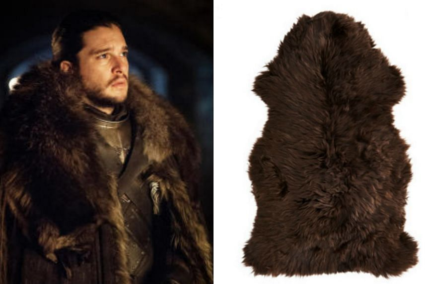 Ikea's Skold rug (right), which costs US$79 (S$108), was used to make some cloaks in Game Of Thrones.