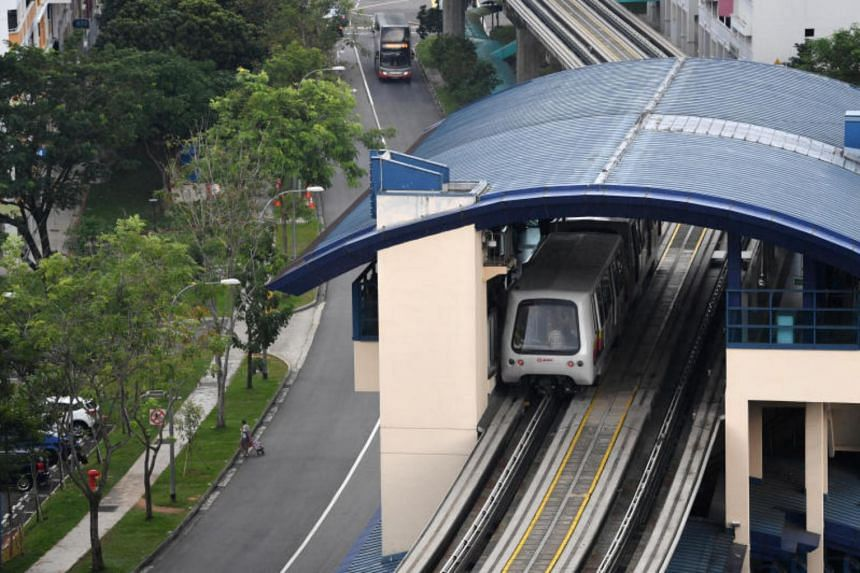 CCTV footage that was played in court on Wednesday showed that Ang Boon Tong lost his balance and fell onto the tracks near the rear of the train after it pulled away.