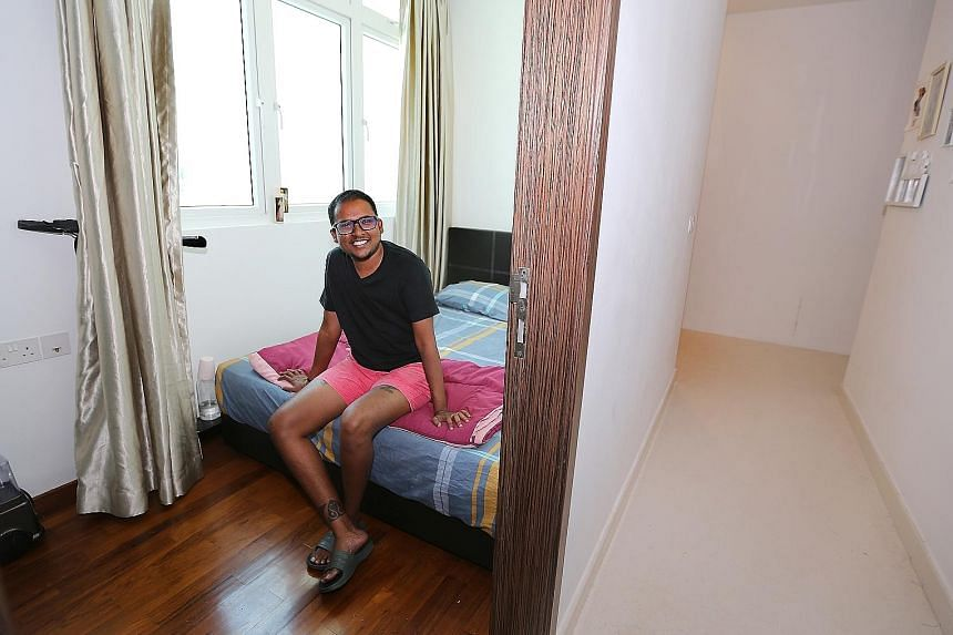 Mr Deveshwar Sham, who is himself a transgender man, at the shelter that he and his wife have set up. Having once lived on the streets for five years, he knows the value of a home with some permanence.