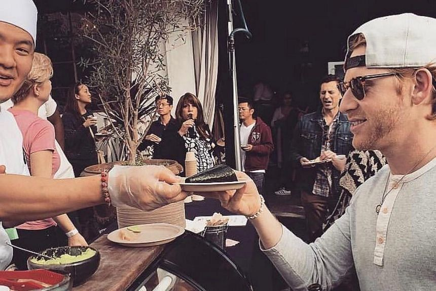 A recent Surkus event in Los Angeles draws a crowd eager to sample food and mingle.