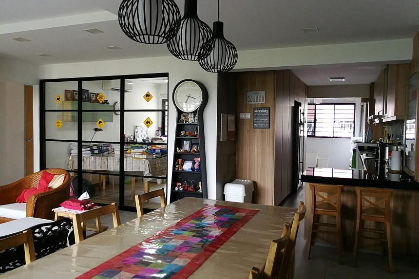 Real estate agent Annie Koh's jumbo flat in Woodlands.
