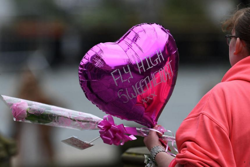 A balloon for Manchester Arena bomb victim Saffie-Rose Roussos, eight.