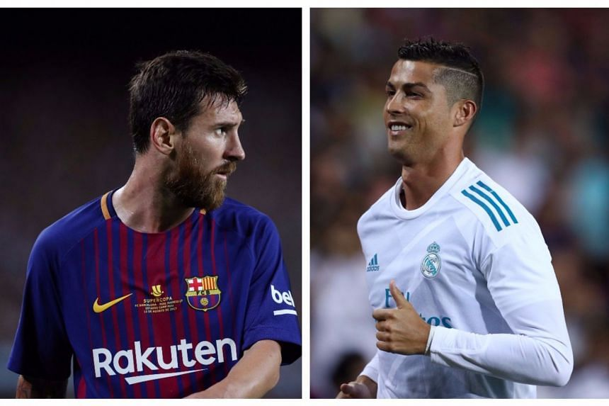 Messi (left) and Ronaldo have dominated the global award for a decade.