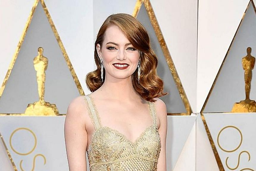 Oscar-winning actress Emma Stone made US$26 million (S$35.5 million) in pre-tax earnings in the year up to June.