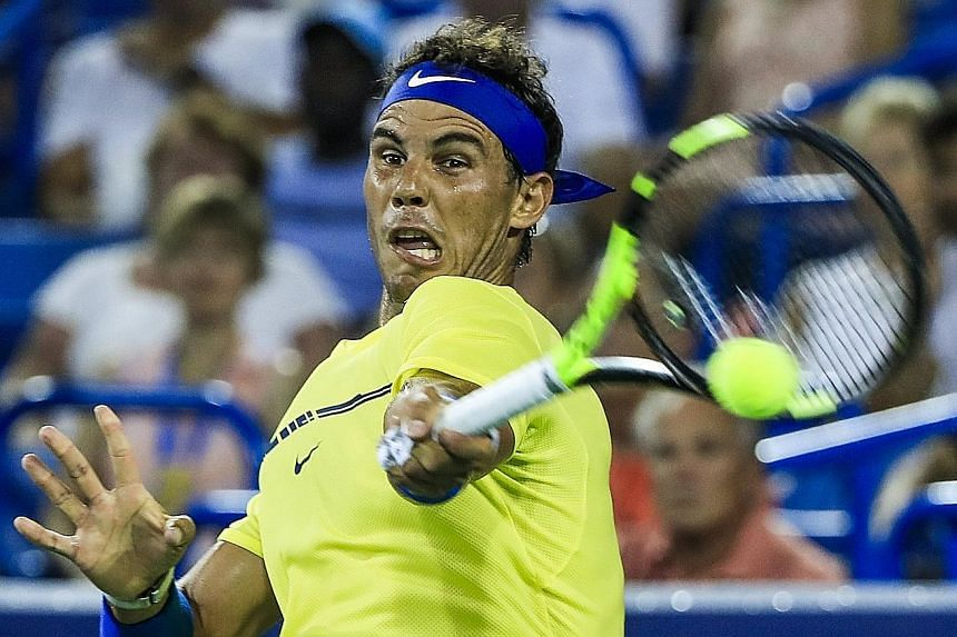 Rafael Nadal demolishing Frenchman Richard Gasquet 6-3, 6-4 to advance to the Cincinnati Open third round. The Spaniard will reclaim the world No. 1 ranking from the injured Andy Murray on Monday.